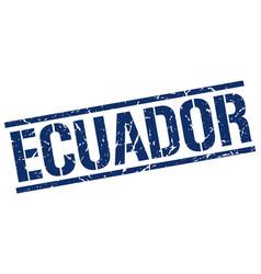 Ecuador blue square stamp vector