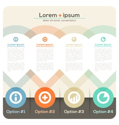 Four Columns Abstract Design Layout vector image vector image