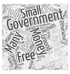 Free money from the government word cloud concept vector