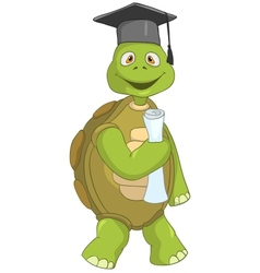 Funny Turtle Student vector
