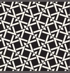 Geometric ornament with striped rhombuses vector