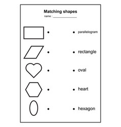 geometry shape matching game educational vector image