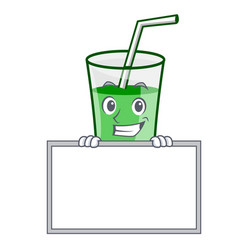 grinning with board green smoothie character vector image