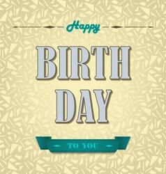 Happy birthday poster background vector image