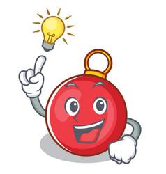 Have an idea christmas ball character cartoon vector