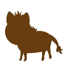 Horse farm animal silhouette icon vector