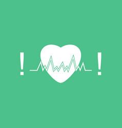 Icon heart with cardio vector