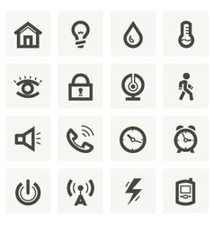 Icon set for security system and house automation vector image