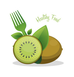 kiwi healthy food ingredient vector image