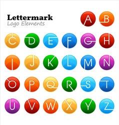 lettermark logo set vector image