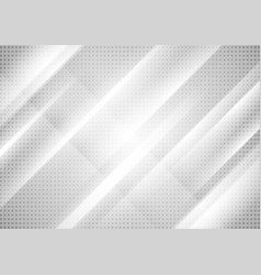 light grey tech stripes abstract background vector image