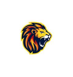 Lion head esport gaming logo vector
