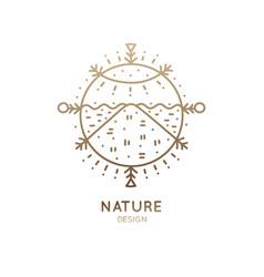 Logo sacred landscape vector