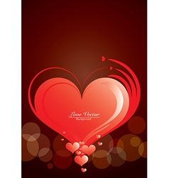 Love Red Heart Symbol Background vector image