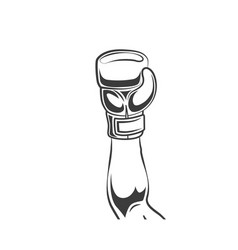 man winner hand in boxing glove icon vector image