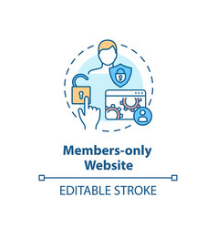 Members only website concept icon vector