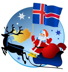 Merry Christmas Iceland vector