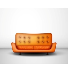 Orange sofa vector image
