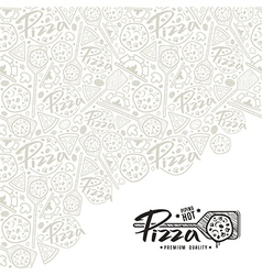Pizza cover for boxes vector