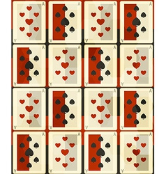 Poker cards seamless vector