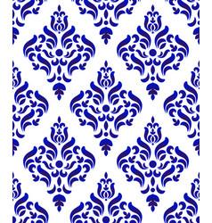 porcelain damask pattern vector image