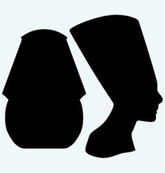 Portrait of Pharaoh and Nefertiti vector