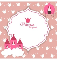 Princess abstract background vector