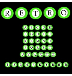 Retro alphabet font ABC letters vector