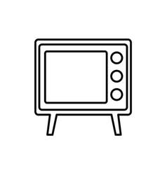retro television icon vector image
