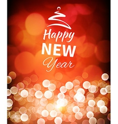 Romantic happy new year background vector