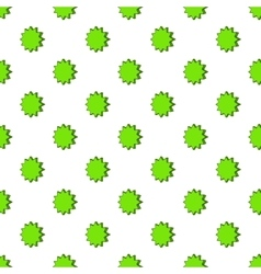 Scalloped star pattern cartoon style vector
