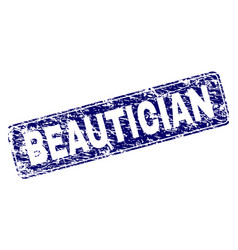 Scratched beautician framed rounded rectangle vector