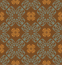 seamless retro ornament vector image