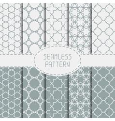 Set of geometric line lattice seamless arabic vector
