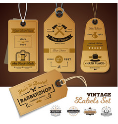 Shops vintage labels set vector