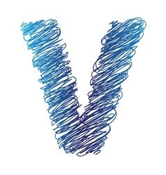 Sketched letter v vector