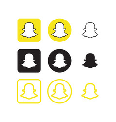 snapchat social media icons vector image