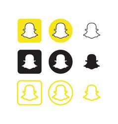 snapchat social media icons vector image