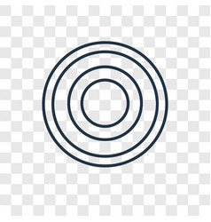 spiral concept linear icon isolated on vector image