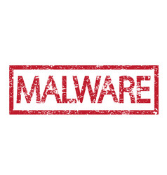 stamp text malware vector image