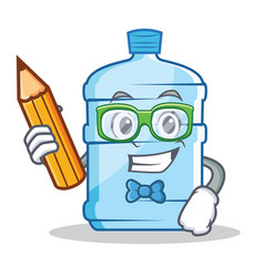 Student gallon character cartoon style vector