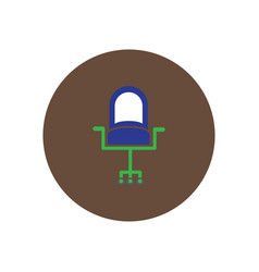 Stylish icon in circle fashion office chair vector
