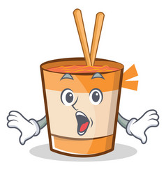 Surprised cup noodles character cartoon vector
