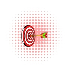 Target icon comics style vector image