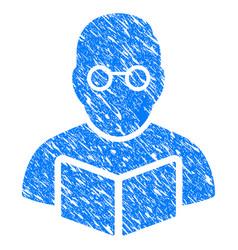 teacher grunge icon vector image