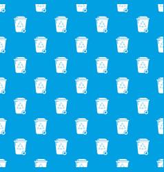 trash wheelie bin pattern seamless blue vector image