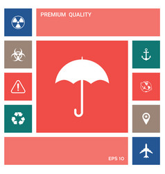 umbrella icon symbol elements for your design vector image