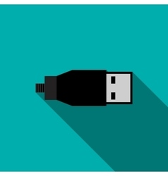 Usb cable icon in flat style vector