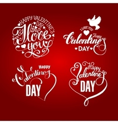 Valentines day calligraphy and lettering vector image