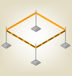 Warning tape for fencing isometric vector